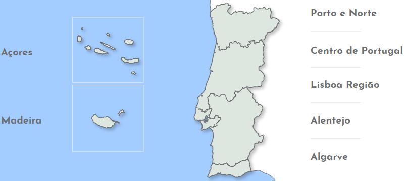 Regioes de Portugal para trail, caminhada e BTT