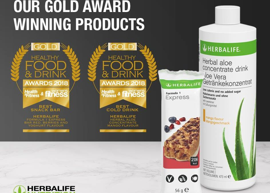 Herbalife ganha Prémios Ouro no Healthy Food & Drink Awards 2018.
