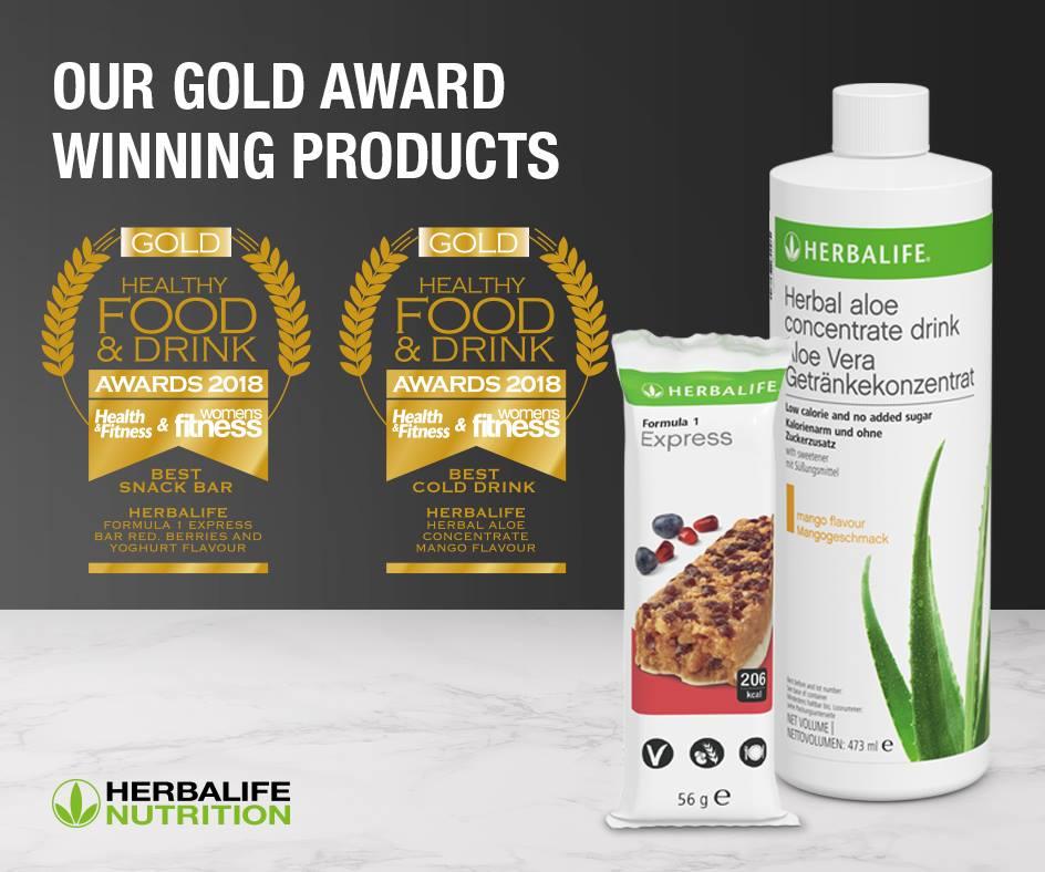 Herbalife ganha Prémios Ouro no Healthy Food & Drink Awards 2018.